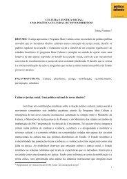 UMA POLÍTICA CULTURAL DE NOVOS DIREITOS? - Cultura Digital