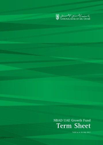 Term Sheet - National Bank of Abu Dhabi