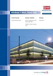 Klinikum 1 West, Basel (CH) - G+H Fassadentechnik