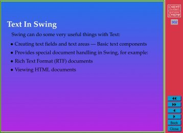 Text In Swing