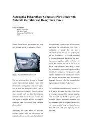 Automotive Polyurethane Composite Parts Made with Natural Fiber ...