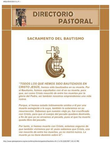 Sacramento del Bautismo - Sacramentos