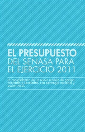 Presupuesto del Senasa ejercicio 2011