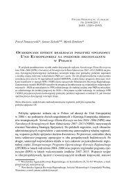 Oczekiwane efekty realizacji polityki spójności Unii Europejskiej na ...
