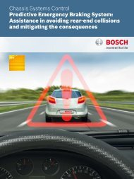 Predictive Emergency Braking System - Bosch Automotive Technology