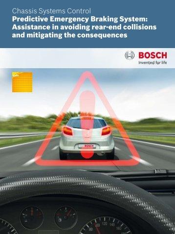 Predictive Emergency Braking System - Bosch Automotive Technology