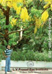 Activity Report 2009 – 2010 - LV Prasad Eye Institute