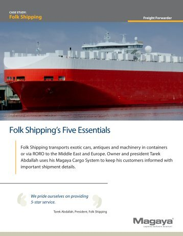 Folk Shipping - Magaya