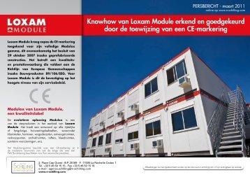 Knowhow van Loxam Module erkend en goedgekeurd door de ...