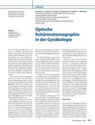 Optische Kohärenztomographie in der Gynäkologie - Springer