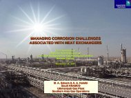 Managing Corrosion Challenges Associated with Heat Exchangers