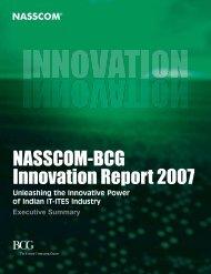 NASSCOM BCG Innovation Report 2007 Executive Summary