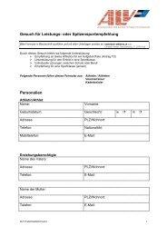 Formular als PDF - ALV