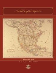2006 Second Quarter Report - Humboldt Capital Corporation