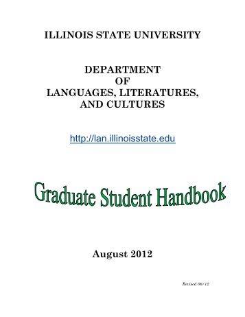 graduate student handbook - Department of Languages, Literatures ...