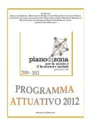 Programma attuativo 2012 - Comune di San Pietro in Casale