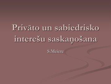 Privāto un sabiedrisko interešu saskaņošana