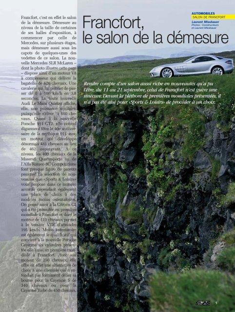 Francfort, le salon de la démesure - Magazine Sports et Loisirs