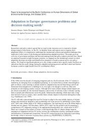 Adaptation in Europe: governance problems and decision-making ...