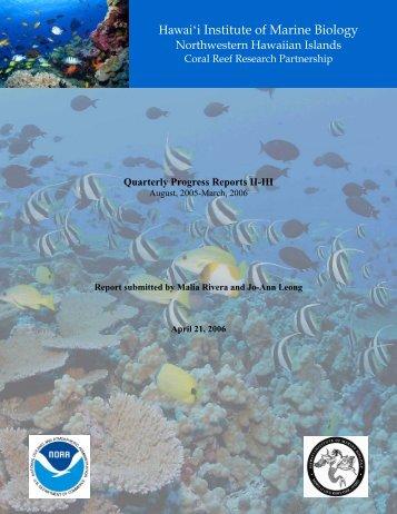 Hawai'i Institute of Marine Biology Northwestern Hawaiian Islands ...