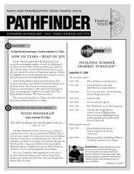 September/October 2009 Pathfinder - Temple Solel