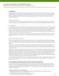 Louisiana Developer Green Building Guide - Global Green USA