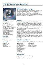 GEN-KEY Generator Set Controllers - Crompton Western Canada Inc.