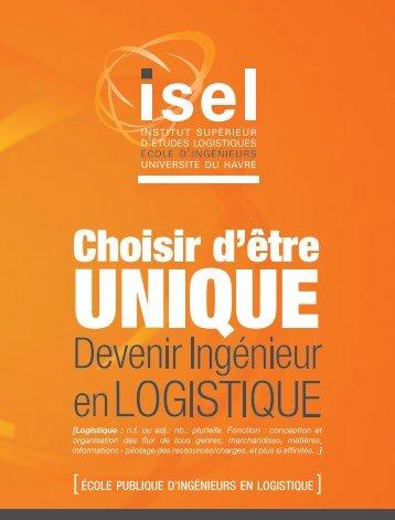 [ ÉCOLE PUBLIQUE D'INGÉNIEURS EN LOGISTIQUE ] - ISEL