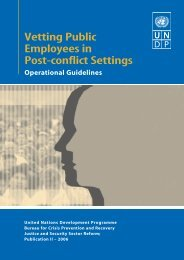Vetting Public Employees in Post-conflict Settings - International ...