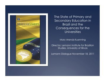 The State of Primary and Secondary Education in Brazil and the ...