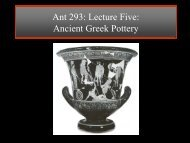 Lecture 7: Greek Pottery