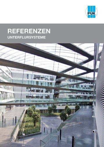 Referenzen Unterflursysteme (PDF, 1,6 MB) - Puk