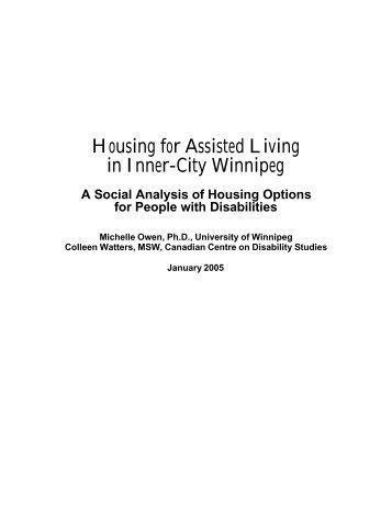 Housing for Assisted Living in Inner-City Winnipeg - University of ...