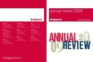 Download 2009 Annual Review - Bridgepoint Capital