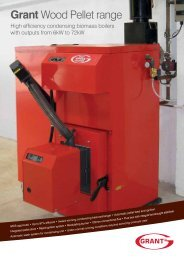 Grant UK Wood Pellet Boiler brochure – July 2013