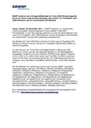 [PDF] Pressemitteilung: QNAP erweitert seine ... - PresseBox
