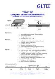 TDG 27 SZ kiertymän salliva liukulaakerikaista - Muottikolmio Oy