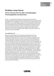 Perfekter Loewe Sound Home Cinema Set mit allen ... - PresseBox