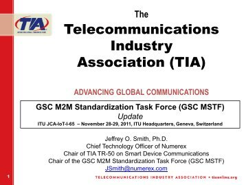 GSC MSTF Presentation to ITU-T - Telecommunications Industry ...