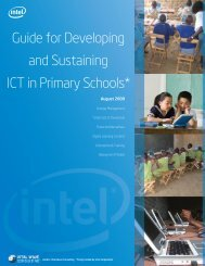 Guide for Developing and Sustaining ICT in Primary Schools* - Intel