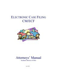 CM/ECF Attorneys' Manual - Southern District of Ohio