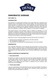 PANCREATIC DISEASE - Denes Natural Pet Care