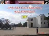 Uydumuz Ay - Ankara Üniversitesi Gözlemevi
