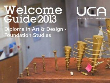Foundation Studies - UCA Community - University for the Creative Arts