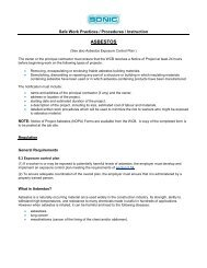ASBESTOS - Sonic Drilling Ltd.