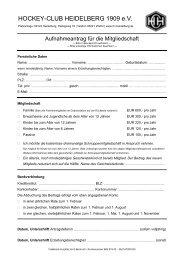 Antrag auf Mitgiedschaft Stand Februar 2012 - HC Heidelberg