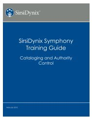 SirsiDynix Symphony Training Guide - FTP Directory Listing