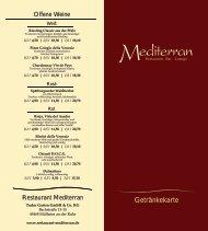 Getränkekarte medi - Deutschland Gourmet