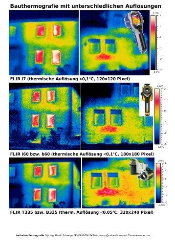 Systemvergleich für Bauthermografie (4 MB PDF)
