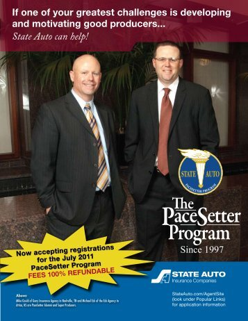 State Auto can help! - The PaceSetter Program
